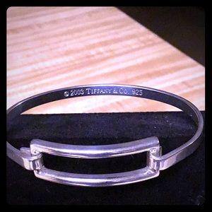 Tiffany Sterling Silver Rectangle Latch Bracelet
